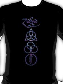EXTREME DISTRESSED TRIQUETRA - purple overdose V T-Shirt
