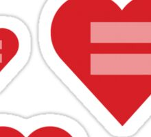 Equal Love Hearts Sticker