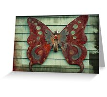 Rusty Butterfly Greeting Card