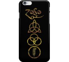 EXTREME DISTRESSED TRIQUETRA - dirty black summer V iPhone Case/Skin