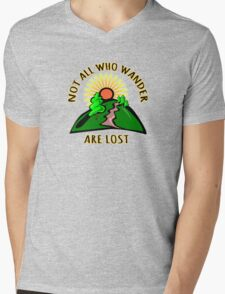Not all those who wander are lost. Mens V-Neck T-Shirt