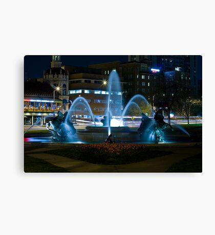 Plaza Fountain Canvas Print