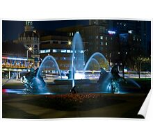 Plaza Fountain Poster
