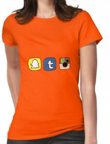tumblr instagram snapchat apps Womens Fitted T-Shirt