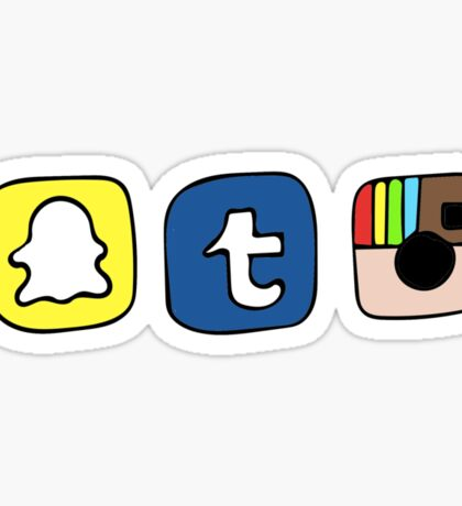 tumblr instagram snapchat apps Sticker