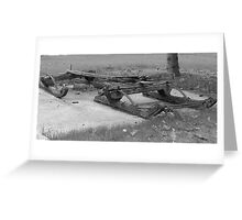 Sledding Days Are Over Greeting Card