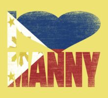 Vintage Grunge I Love Manny Pacquiao Baby Tee