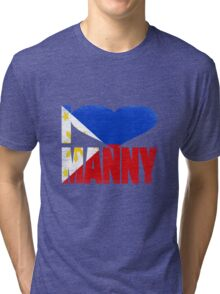 Vintage Grunge I Love Manny Pacquiao Tri-blend T-Shirt