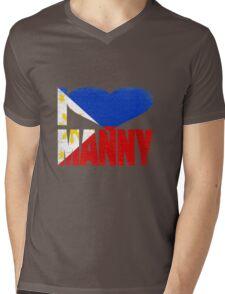 Vintage Grunge I Love Manny Pacquiao Mens V-Neck T-Shirt