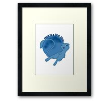 Once in a Blue Mew Framed Print