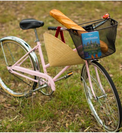 Pink Pedal Challenge 2015 - Support Jo and Ginny - bike with hat Sticker