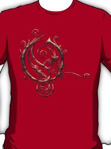 LATTICE LETTER O - burning coals T-Shirt