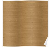 Pale Gold Wood Grain Texture Color Accent Poster
