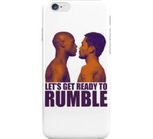 Let's get ready to rumble! Pacquiao vs Mayweather iPhone Case/Skin