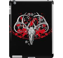 black and white deer skull with horns in graphic iPad Case/Skin