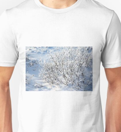 Hoarfrost on Arctic Willow Unisex T-Shirt