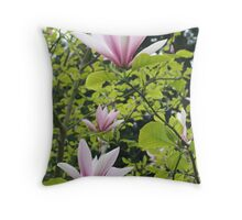 """Tulip Tree Blossoms"" Throw Pillow"