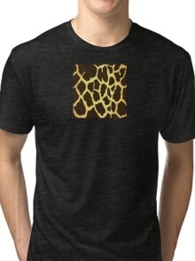 Giraffe Skin Pattern Tri-blend T-Shirt