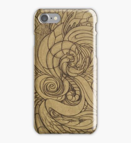 Curly abstraction iPhone Case/Skin