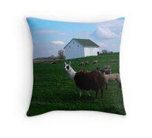 Dinner Time On The Farm Throw Pillow