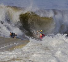 The Wedge- Newport Beach California by photosbyflood