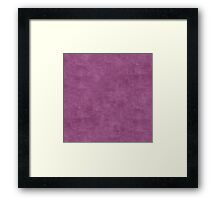 Amethyst Oil Pastel Color Accent Framed Print