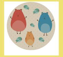 Cartoon funny hamsters Kids Tee