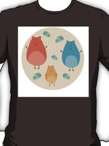 Cartoon funny hamsters T-Shirt