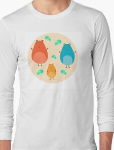 Cartoon funny hamsters Long Sleeve T-Shirt