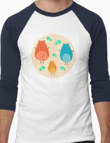 Cartoon funny hamsters Men's Baseball ¾ T-Shirt