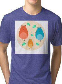 Cartoon funny hamsters Tri-blend T-Shirt