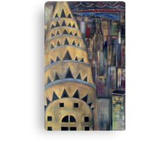 The City  / My  Paintings          Canvas Print