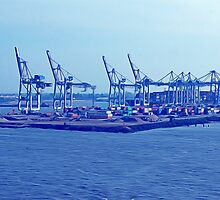 Harbor Cranes in Hamburg by yulia-rb