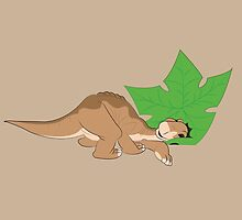 Littlefoot and his tree star! by steffirae