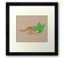Littlefoot and his tree star! Framed Print