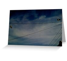 Blue Suede Sky Greeting Card
