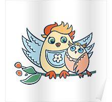Wonderful birdies Poster