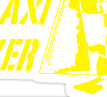 Taxi Driver (yellow) Sticker