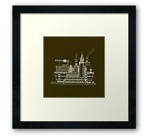Etchy sketchy container ship Framed Print
