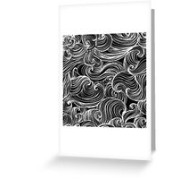 Free Flow B & W Greeting Card