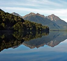 Gunn Lake - Milford Sound, New Zealand by Wendy  Meder