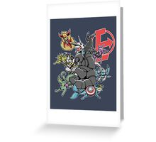 Eeveengers: Evolution of Aggtron Greeting Card
