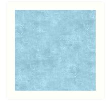 Aquamarine Oil Pastel Color Accent Art Print