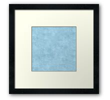 Aquamarine Oil Pastel Color Accent Framed Print