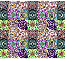 Abstract Mandala Collage by Phil Perkins