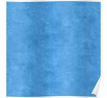 Azure Blue Oil Pastel Color Accent Poster