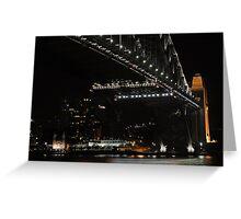 Very Dark Harbour Bridge Greeting Card