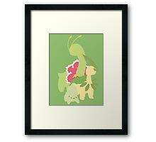 Chikorita Evolution Framed Print