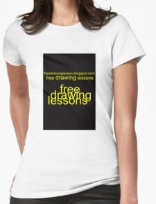 freedrawinglesson 1 Womens Fitted T-Shirt