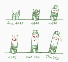 Tower of Pisa Through the Ages Kids Clothes
